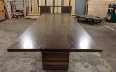 Industrial Reclaimed Slatted Conference table