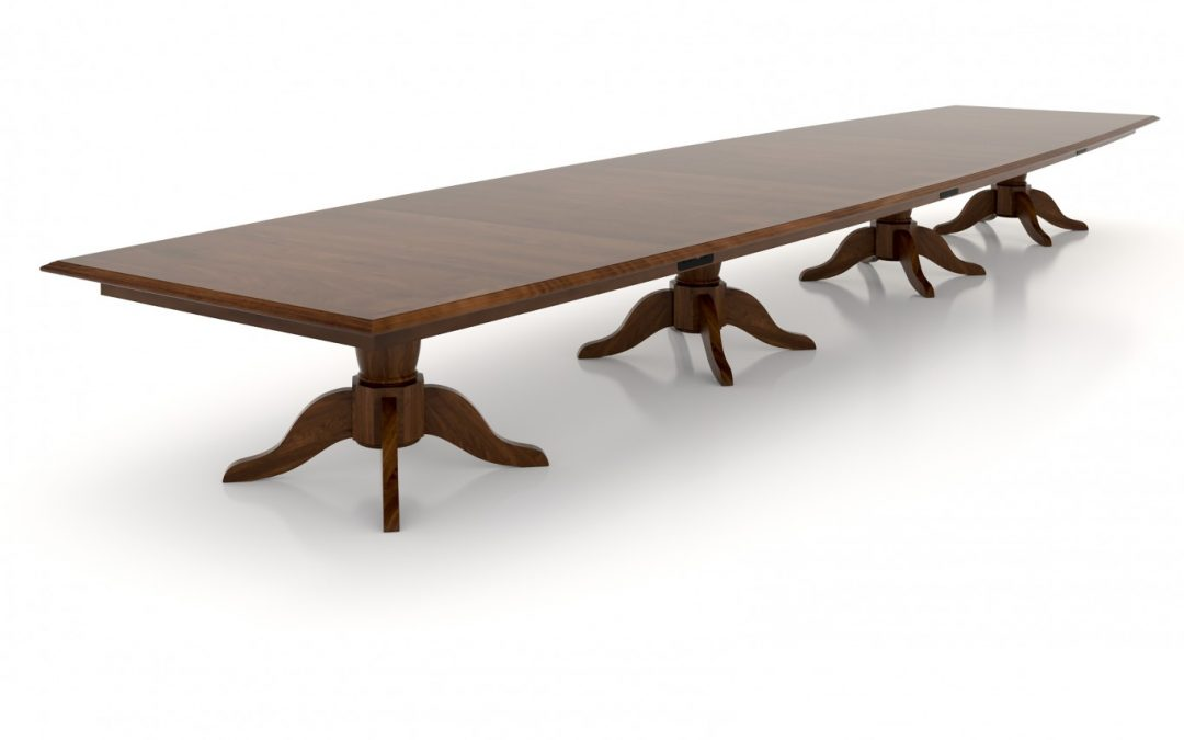 23ft. Custom Boat Shaped Walnut Boardroom Table