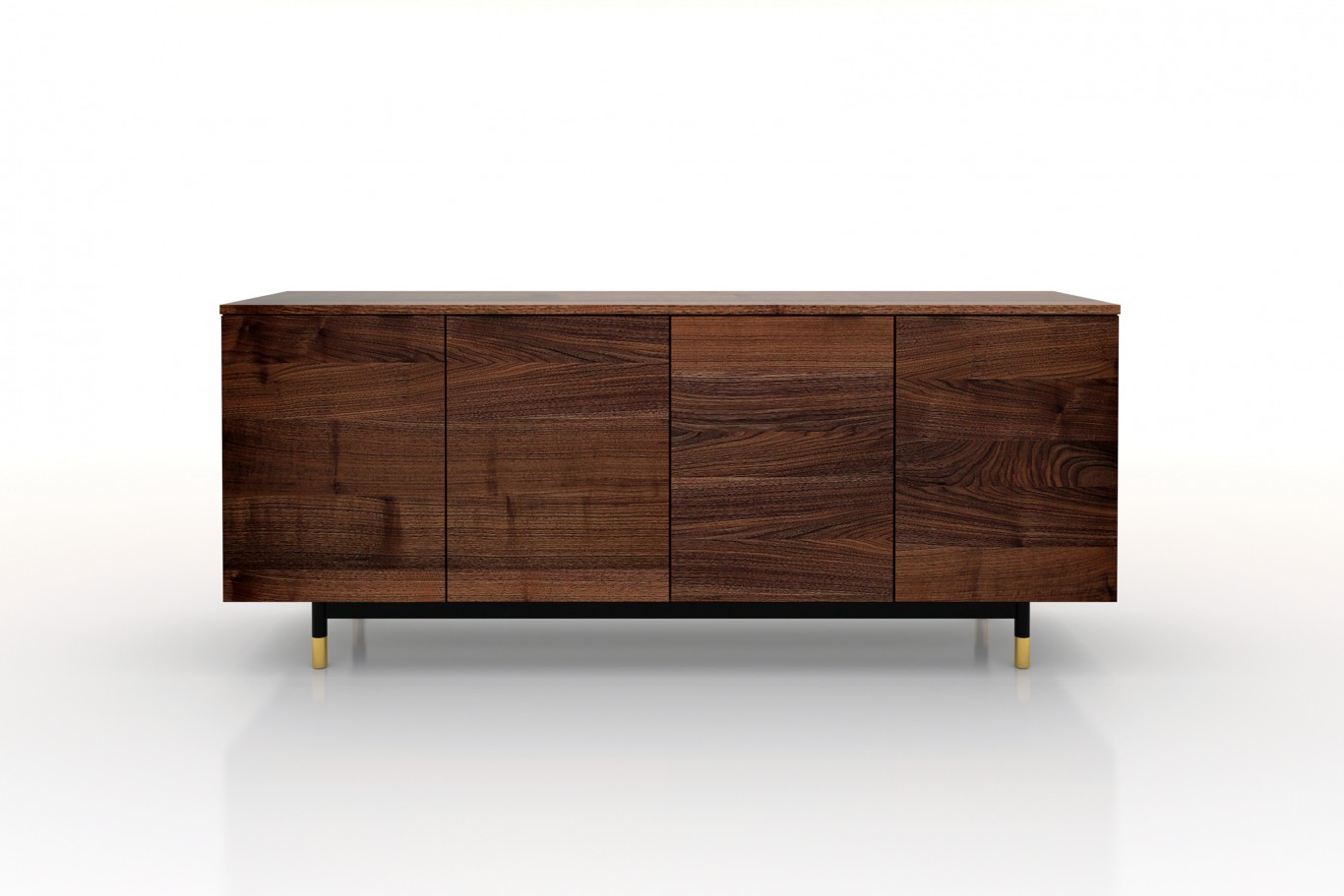 Modern Credenza Reclaimed veneers / gold feet