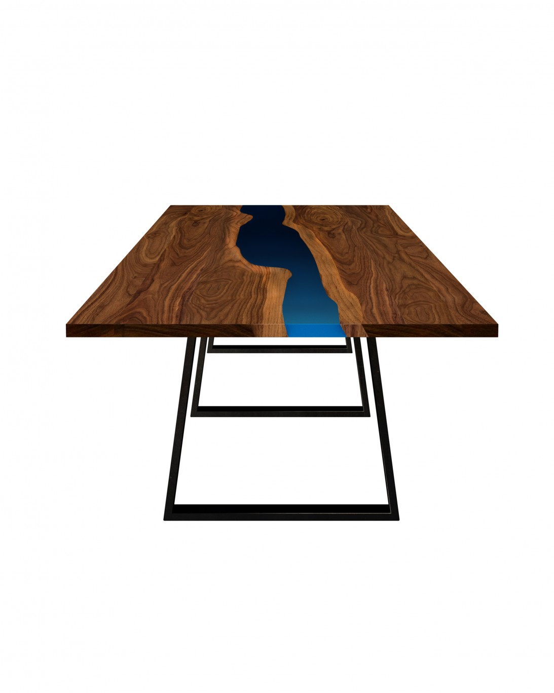 Custom River table front view