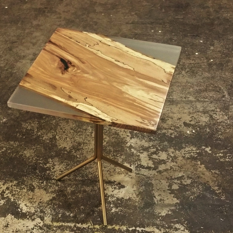 Beech-Resin End Table