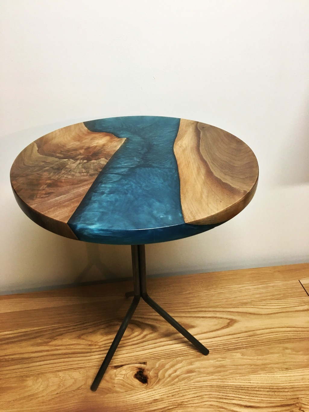 Walnut-Resin End Table