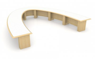 Custom U-Shaped Boardroom Table